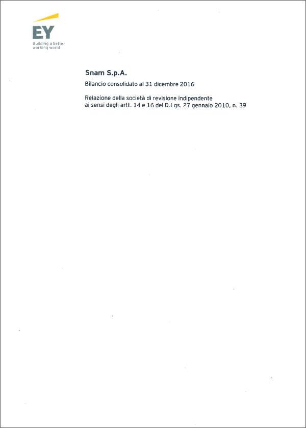 35735ecfce SNAM Relazione finanziaria annuale 2016 - Relazione della Società di ...